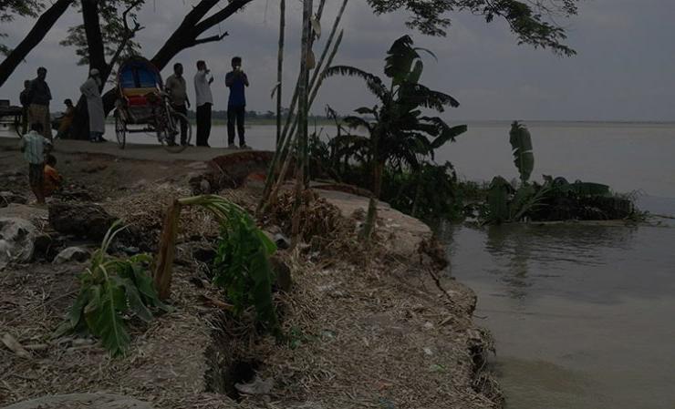 পদ্মার তীব্র স্রোতে নদীগর্ভে বিলীন তিন গ্রামের ফসলি জমি ও বসতভিটা