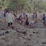 ১০ হাজার মানুষ পানিবন্দি, বেড়িবাঁধ কেটে দূষিত পানি অপসারণের চেষ্টা