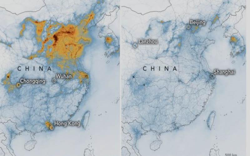 চীনে করোনাভাইরাস: অনাকাঙ্খিতভাবে কমে এসেছে পরিবেশ দূষণ