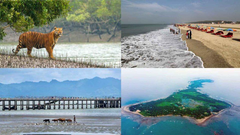 সুন্দরবন, চট্টগ্রাম, কক্সবাজার, টেকনাফ ও সেন্ট মার্টিন দ্বীপ